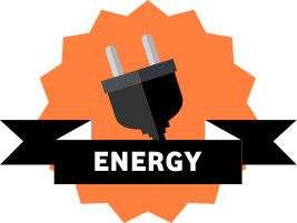 A business energy plug graphic
