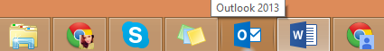 Microsoft Outlook in a navigation bar