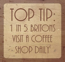 1 in 5 brits visit a coffee shop daily